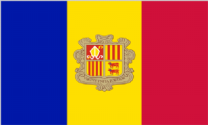 Andorra Large Country Flag - 5' x 3'.